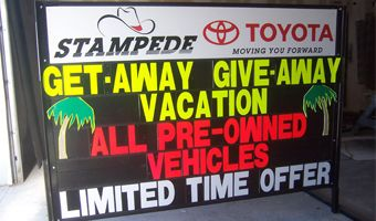 Temporary sign sales