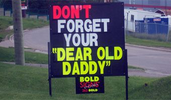 Temporary sign rentals